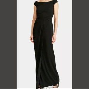Lauren Ralph Lauren Cap Sleeve Black Gown Dress 10